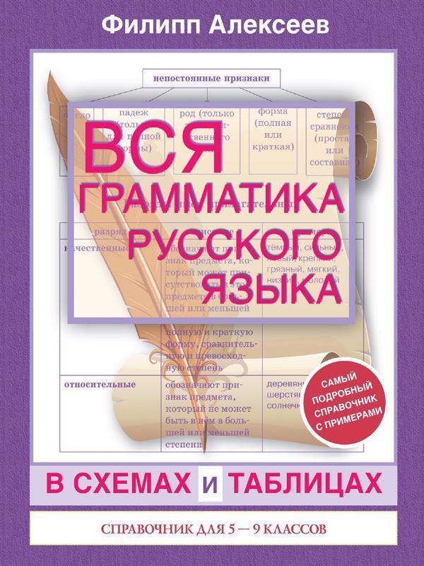 Вся грамматика русского языка в схемах таблицах - Алексеев Ф.С.